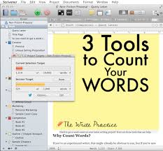 easy to use tools to count words count words scrivener word count targets
