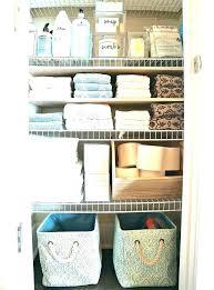 Bathroom Closet Organization Ideas New Bathroom Closet Shelving Linen Organizer Linen Closet Organizers