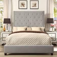 Crown Mark Reese Upholstered Bed - Item Number: 5286-Q-FB+HB