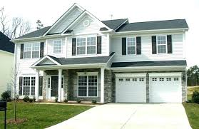 Black Garage White House With Door Light Gray Houses Grey Siding Medium Size