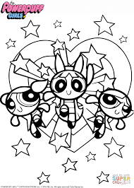 Coloring Pages Powerpuff Girls Coloringage Freerintableages The