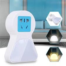 Blue Plug In Night Light 5a 9 Led Plug Socket Lamp Plug In Wall Hallway Night Light Usb Charging Us Eu Plug