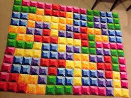 Tetris quilt – block layout | Gorram Quilts & Tetris quilt Nintendo Video Game 3-D 3D block layout rainbow Adamdwight.com
