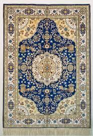 details about oriental turkistan handmade silk oriental rug blue white