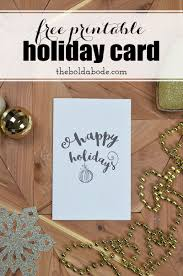 Free Holiday Photo Greeting Cards Printing The Holidays Free Printable Holiday Greeting Card
