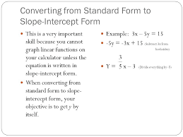 slope intercept calculator math converting from standard form to slope intercept form slope intercept calculator mathpapa