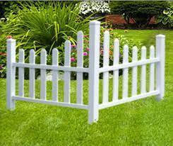 corner fence garden tree white picket