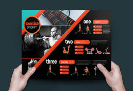 Gym Brochure A Gym Fitness Brochure Template Templates Creativ On Fitness Flyer 15