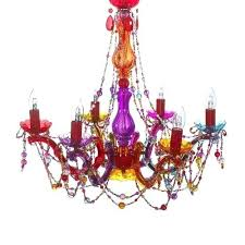 easy fit multi coloured glass pendant light chandelier ceiling