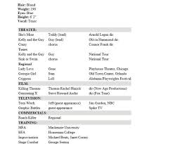 Acting Resumes Templates Free Resume Templates 2018