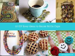 16 diy easy ideas to reuse bottle caps projects