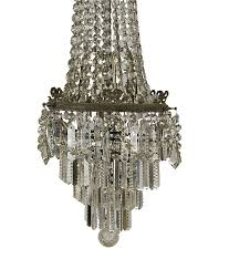 a handsome faceted and polished crystal pendant chandelier made in france circa 1900 tall