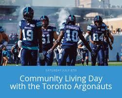 Argos Seating Chart Bmo Field Community Living Day With The Toronto Argos Community