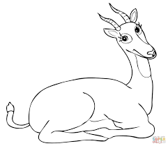Small Picture Funny Uganda Kob Antelope coloring page Free Printable Coloring