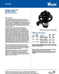 Ranger Automatic Hydro Chem Monitor Nozzles Williams Fire