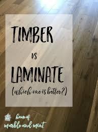 engineered timber vs laminate
