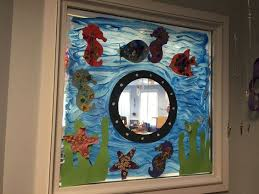 classroom door with window. Under The Sea Window | Theme Classroom Door And Decorations . With