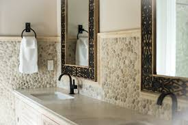 bathroom backsplash. Java Tan Pebble Tile High End Bathroom Backsplash And Walls I