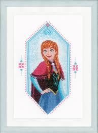 Vervaco Cross Stitch Charts Frozen Anna
