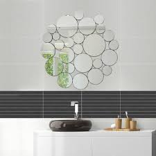 nickles dimes ornate stylish round wall mirror decorative design