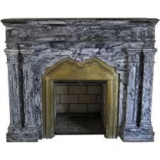 antique marble fireplace surround grey black brass insert black tulip antiques ltd ruby lane