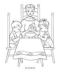 Free Sunday School Coloring Pages Bible Printables Lords Prayer
