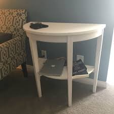 decoration half moon end table attractive with drawer kayalabs co inside 28 from half moon