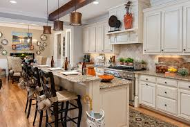 Architecture, Antique White Color Of Island Also Cabinetry Has ...