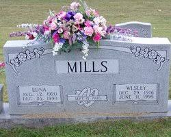 Wesley Mills (1916-1995) - Find A Grave Memorial
