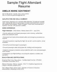 Sample Resume For Flight Attendant Unique Flight Attendant Resume Template Audiopinions