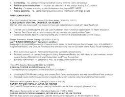 Qa Engineer Resume Sample Interesting Sample Qa Resumes Tester Resume Samples Tester Resume Samples