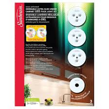 led dimmable under cabinet puck light kit 3 pack