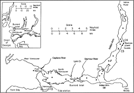 Burrard Inlet Depth Chart Plan View Of Burrard Inlet And Indian Arm Modified From