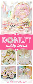 You don't want to miss this fabulous Donut themed birthday party! The  colorful