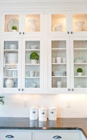 glass kitchen cabinet cozy ideas