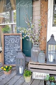 diy front porch decorating ideas. spring cottage porch decoration diy front decorating ideas