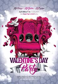 Valentines Flyers Valentine S Day Party Flyer Psd Template