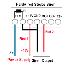 how to wire hardwired outdoor strobe siren to our alarm system Outdoor Wiring Requirements wired siren wiring method diagram outdoor wiring requirements