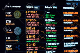 Crypto Chart 2017 New York Usa July 14 2017 Cryptocurrency Chart On Dark Laptop