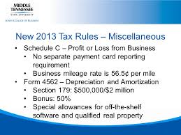 Federal Income Tax Update Denise Leggett Cpe Day December 5 Ppt