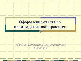 Оформление отчета по производственной практике Основы управления  Оформление отчета по производственной практике