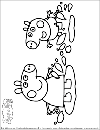 You can see her doing many kinds of activities both with her family and her friends. Peppa Pig Coloring Pages Coloring Home