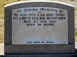 Gladys Hilda Ward Simpson (1901-1937) - Find A Grave Memorial