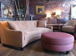 sofa  curved vs straight  round ottoman ottomans and curved