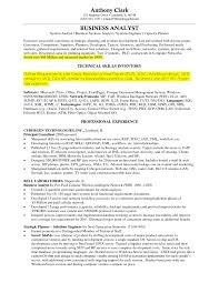 Sample Resume Business Analyst Resume Template Word Business