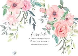 12,741 best watercolor flower ✅ free vector download for commercial use in ai, eps, cdr, svg vector illustration graphic art design format.watercolor, flowers, watercolor background, watercolor floral, watercolor rose, watercolor butterfly, flower painting almost files can be used for commercial. Blush Watercolor Flowers Clipart 77212 Illustrations Design Bundles