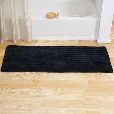 com bedford home memory foam extra long bath rug mat