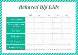 56 Nice Behavior Chart For School Home Furniture