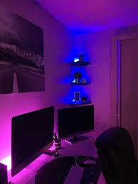 Mood Lights For Room Home Office Led Mood Lighting Setup Light Strip From Ikea