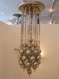 rare chrome and glass ball light fixture att verner panton 2